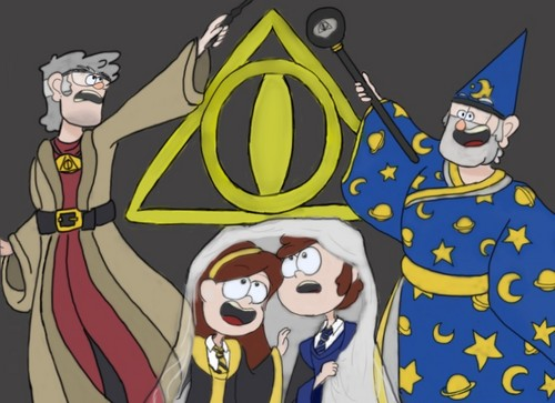 Gravity Falls wallpaper titled Dipper Pines adn the Deathly Ciphers Colored Dark Background Finished Final