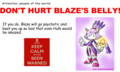Don't Hurt Blaze's (B Word for Stomach)! - blaze-the-cat photo