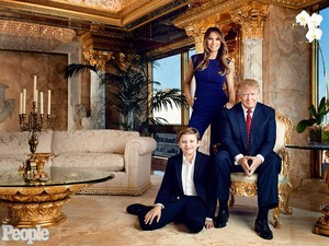 Donald, Melania, and Baron Trump
