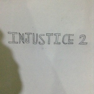 Drawing logo for the upcoming game Injustice 2