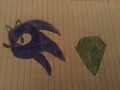 Drawing of sonic and the chaos emerald  - sonic-the-hedgehog photo