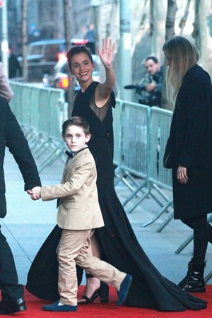 Emma Watson arriving at Beauty and The Beast New York City Premiere