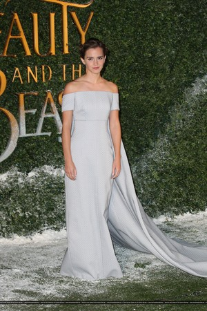 Emma Watson at the London premiere of 'Beauty and the Beast'