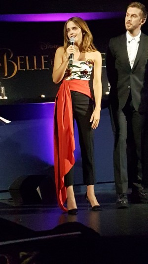 Emma Watson at the Paris Premiere of 'Beauty and the Beast'