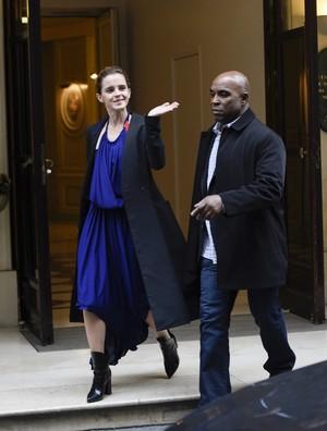 Emma Watson leaving hotel Le Meurice in Paris