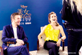 Emma and Dan Stevens BATB world press tour - beauty-and-the-beast-2017 photo