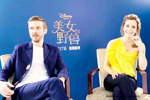 Emma and Dan Stevens BATB world press tour