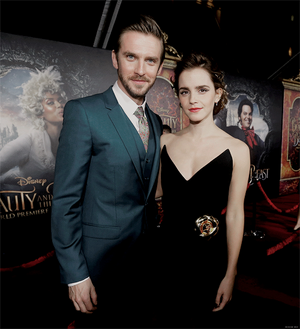 Emma and Dan Stevens at World Premiere of BATB in L.A.