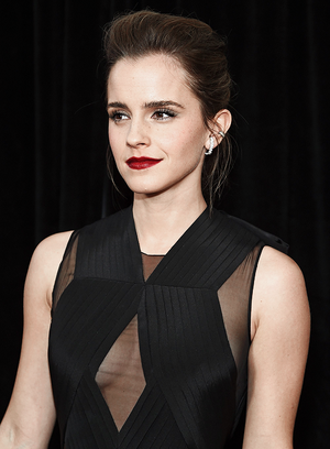 Emma at NY screening of Beauty and the Beast