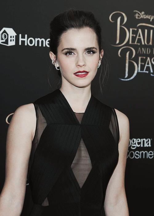 Emma at NY screening of Beauty and the Beast