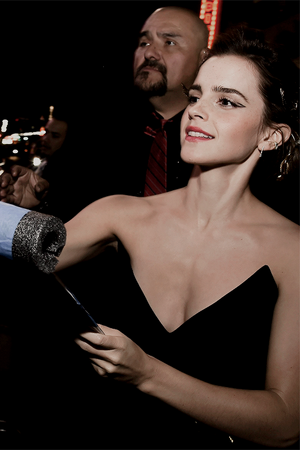 Emma at World Premiere of BATB in L.A.