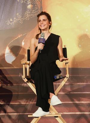 Emma at press conference for BATB