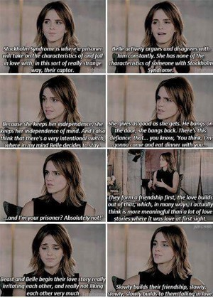 Emma's respond about Belle has Stockholm syndrome