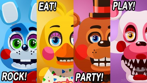 Five Nights at Freddy's kertas dinding titled FNAF 2 Poster