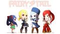 Fairy Tail girls chibi wallpaper - anime wallpaper