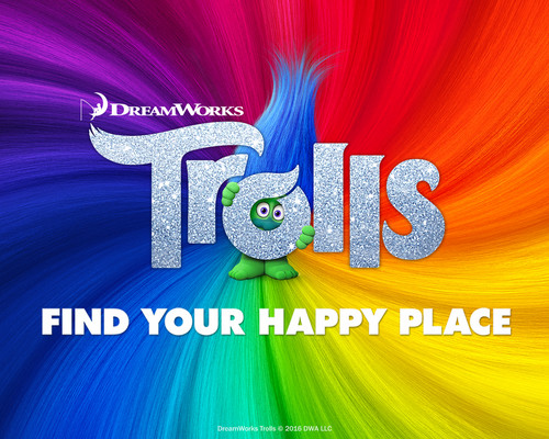 DreamWorks Trolls fondo de pantalla titled Find Your Happy Place