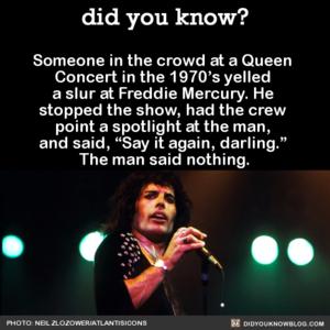 Freddie stands up for himself - live