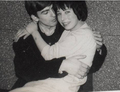 George hugs a Fan - the-beatles photo
