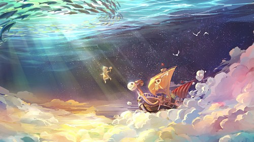 one piece wallpaper entitled Going Merry