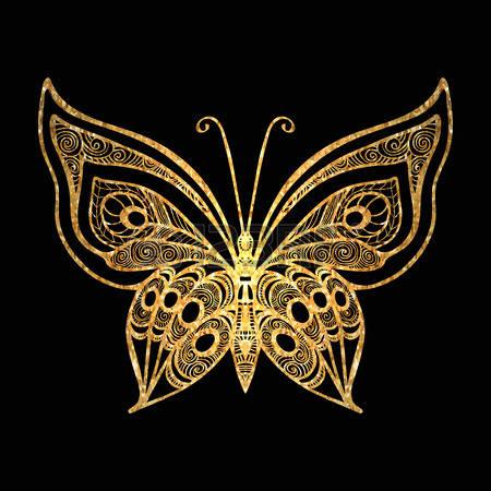 Gold 나비