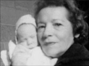 Grayson Hall's Mother, Eleanor Grossman, and Baby Matthew Hall, 1958