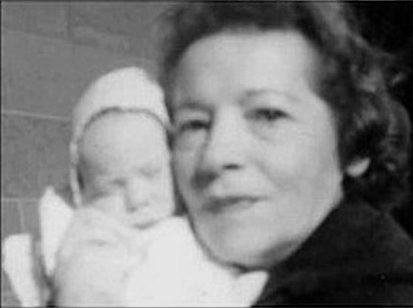 Grayson Hall's Mother, Eleanor Grossman, and Baby Matthew Hall, 1958