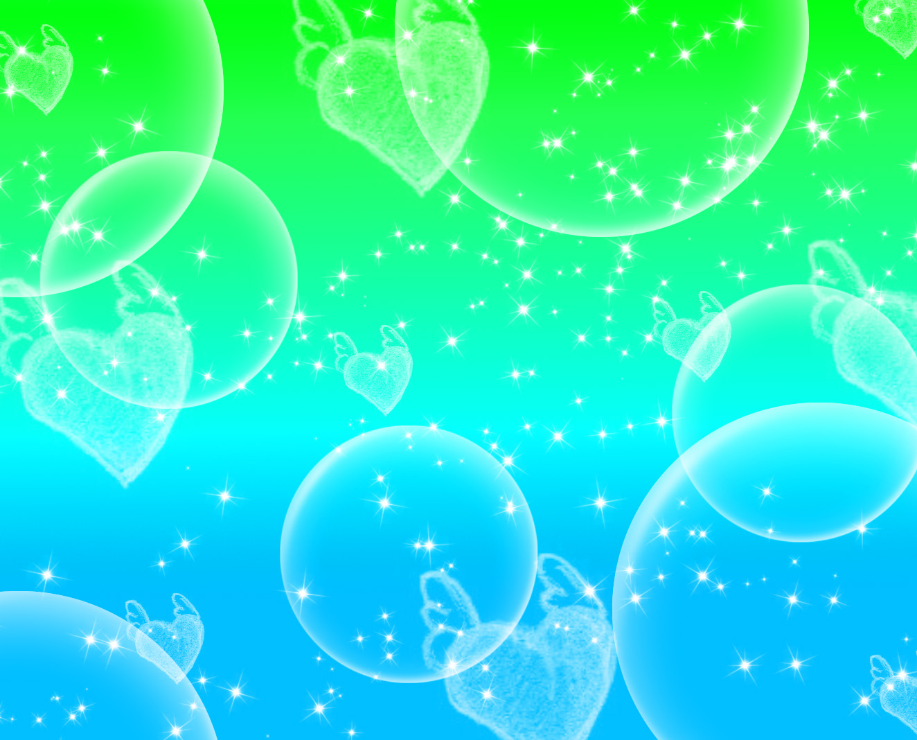 kawaii charm images green and blue hd wallpaper and background photos