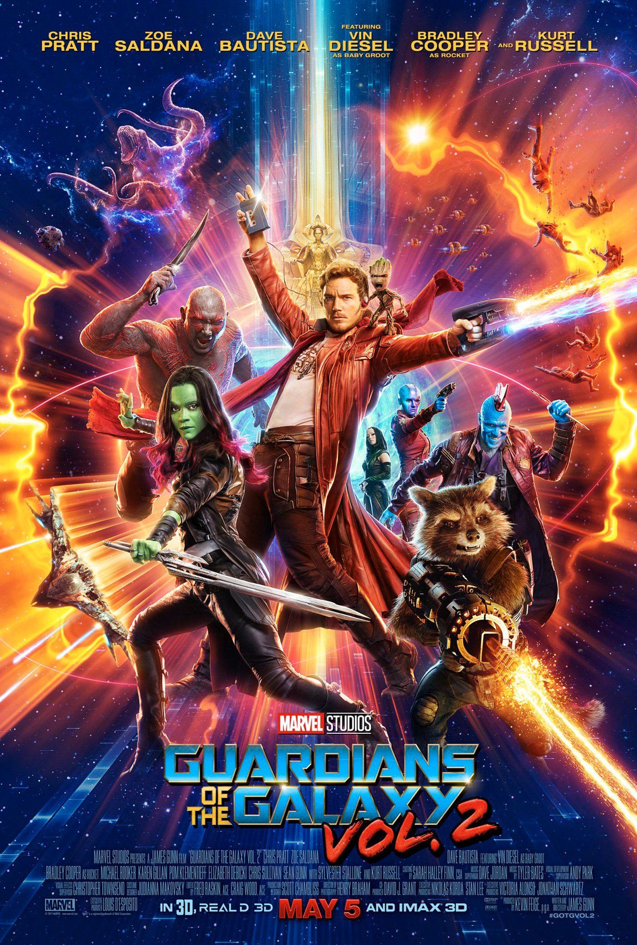 Guardians of the Galaxy Vol. 2 Official Poster