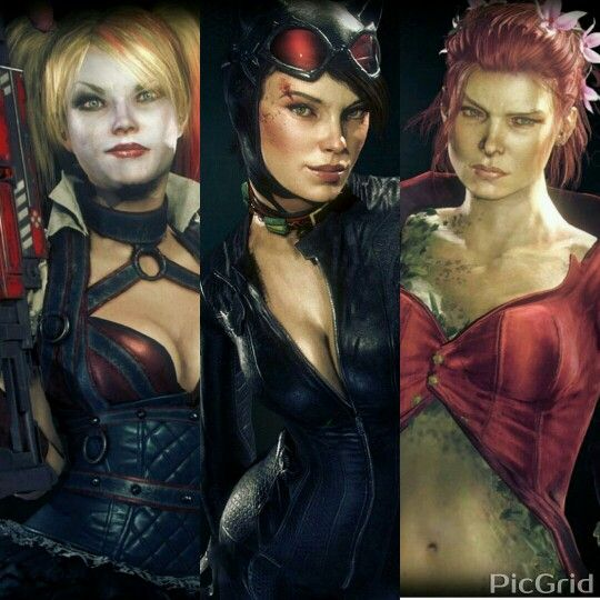 Harley Quinn,Catwoman and Poison Ivy