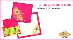 Holy Bond of two Souls Indian Wedding Cards