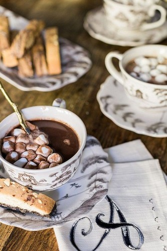 Christmas wallpaper titled Hot Chocolate