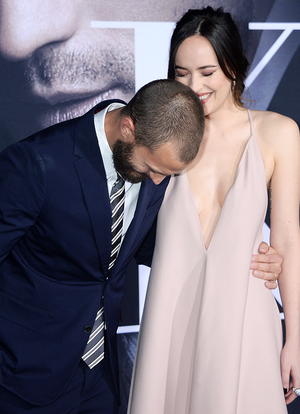 Jamie Dornan and Dakota Johnson attend the premiere of ' 'Fifty Shades Darker'