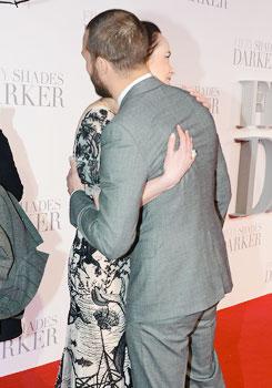Jamie and Dakota at 런던 premiere of Fifty Shades Darker
