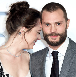 Jamie and Dakota at London premiere of Fifty Shades Darker