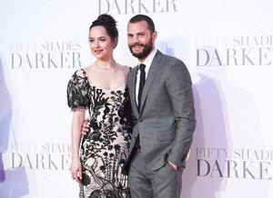 Jamie and Dakota at London premiere of Fifty Shades Darker