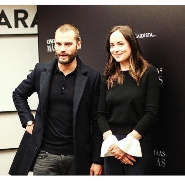 Jamie and Dakota at Madrid premiere of Fifty Shades Darker