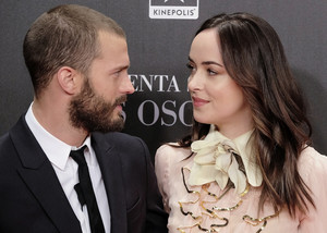 Jamie and Dakota at Madrid premiere of Fifty Shades Darker
