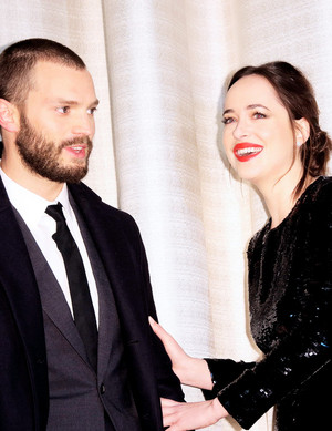 Jamie and Dakota at the Fifty Shades Darker Germany premiere