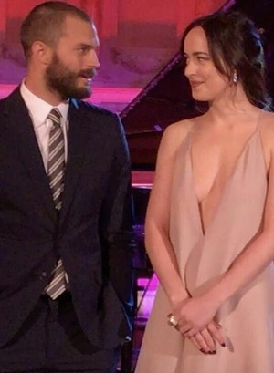 Jamie and Dakota at the Fifty Shades Darker L.A premiere