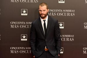 Jamie at Madrid premiere of Fifty Shades Darker