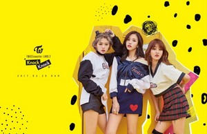 "Jeongyeon's, Mina's, Jihyo's Group Teaser Image for ""Knock"