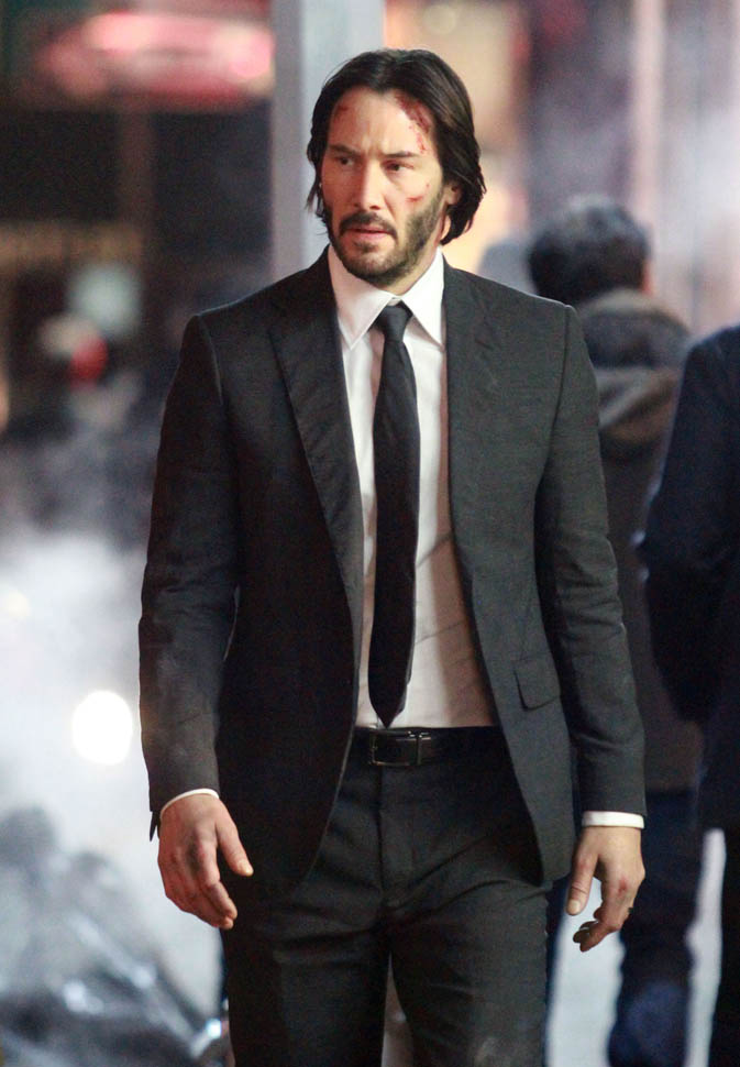 John Wick images Keanu filming John Wick: Chapter 2 HD wallpaper and background photos