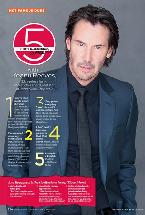 Keanu in Women's Health March 2017