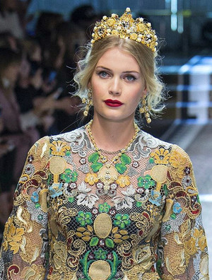 Lady Kitty Spencer Dolce Gabbana Milan