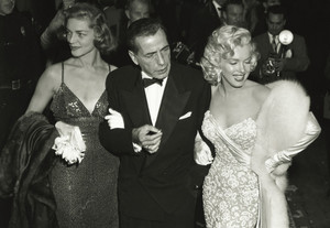 Lauren Becall,Humphrey Bogart and Marilyn Monroe,At The Oscars 1953