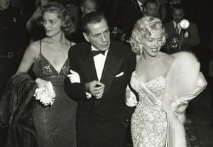 Lauren Becall,Humphrey Bogart and Marilyn Monroe,At The Oscars 1953