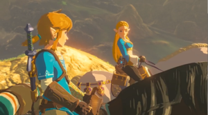 Link and Princess Zelda Breath of the Wild 2017 Screenshot II