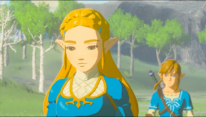 Link and Princess Zelda Breath of the Wild 2017 Screenshot III.