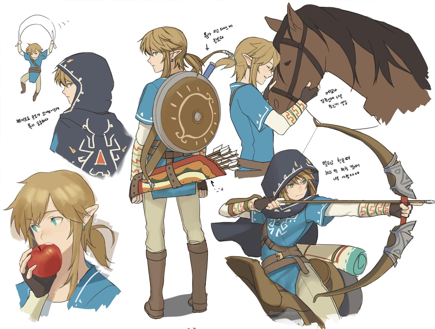Zelda Breath Of The Wild Link Concept Art