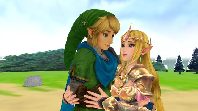 Link X Zelda Hyrule Warriors Mmd First Time Wii U Version Link And Zelda Foto 40223542 Fanpop